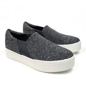 NEW Vince Warren Tweed Platform Sneakers